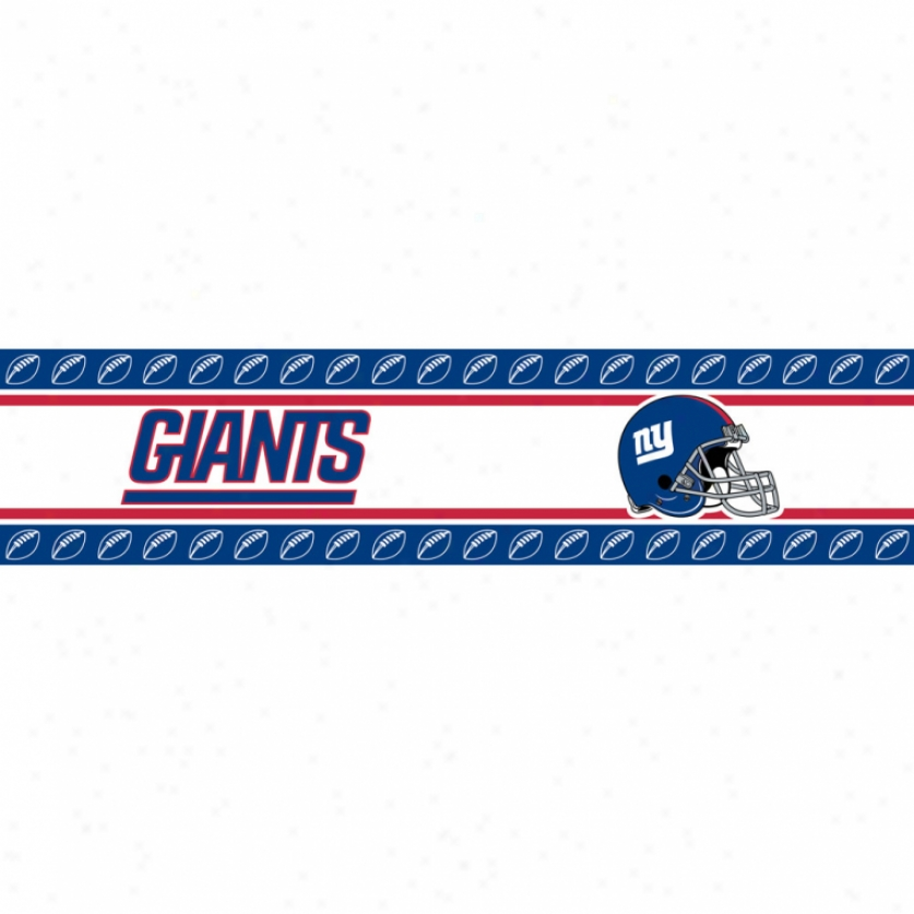 New York Giants Peel & Stick Border