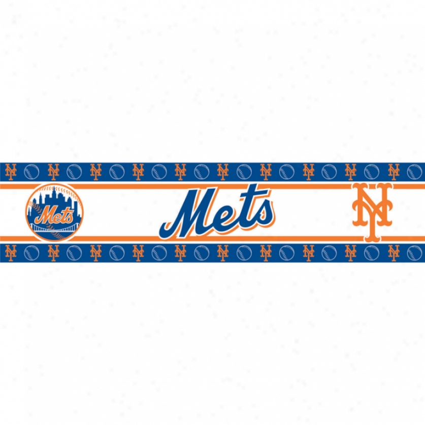 New York Mets Peel & Stick Border