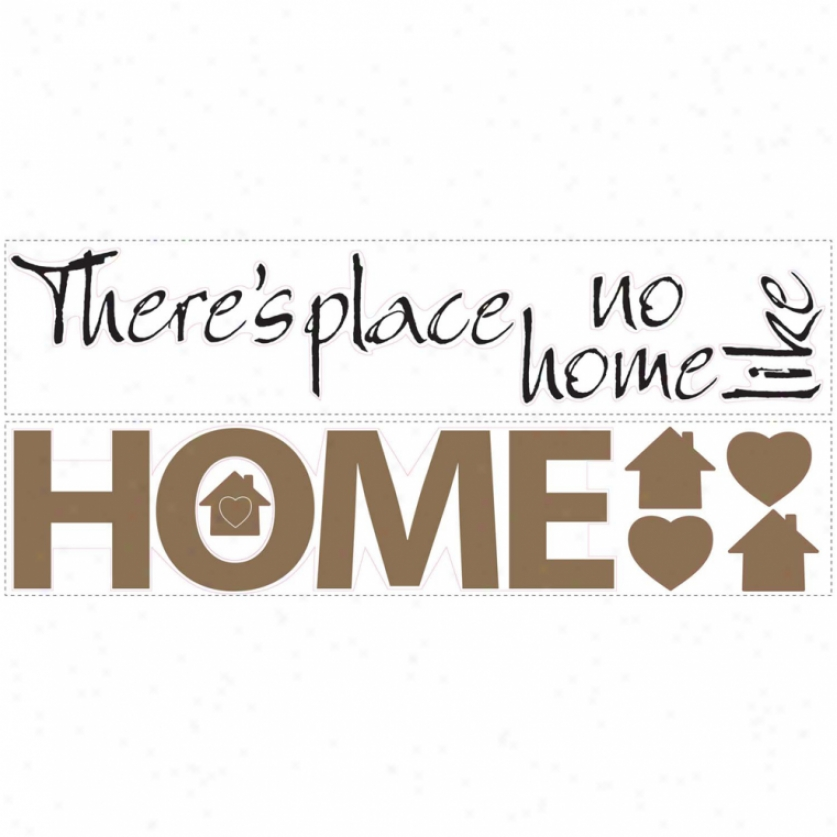 No Place Like Home Wall Decals