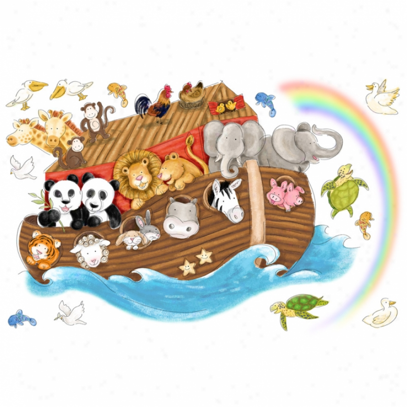 Noah's Ark Giant Wall Decals