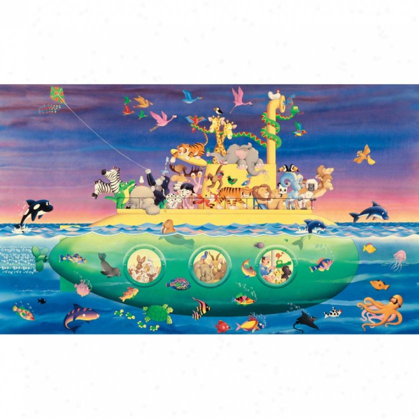 Noah's Submarine Xo Wallpaper Mural 10.5' X 6'