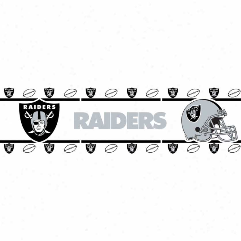 Oakland Raiders Peel & Stick Borfer