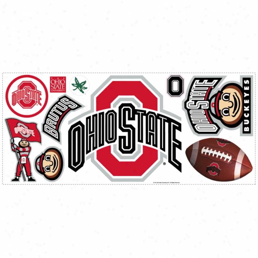 Ohio State University Giant Wall Decal In the opinion of Hooks