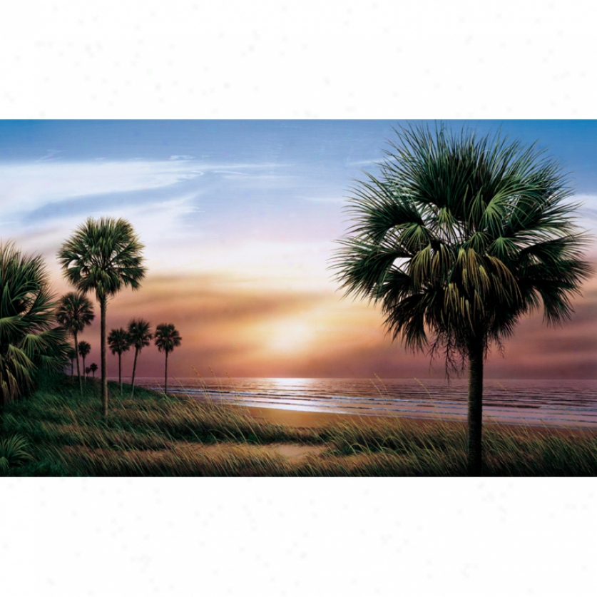 Palm Trees Xl Wallpaper Mural 10.5' X 6'