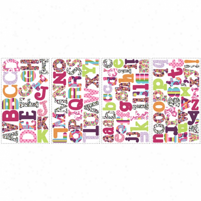 Patterned Alphabet Wall Decals