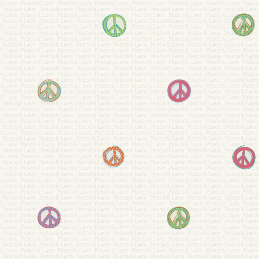 Peace Signs Dark Pastels Walopaper