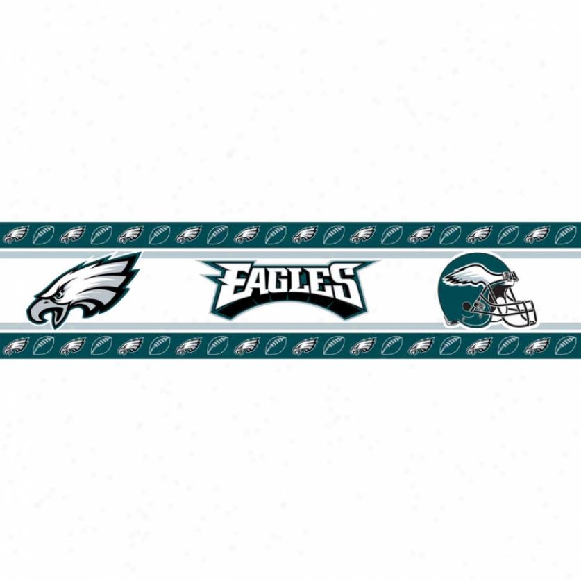 Philadelphia Eagles Peel & Adhere Border