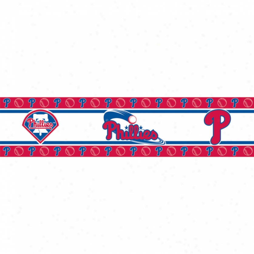 Philadelphia Phillies P3el & Stick Border