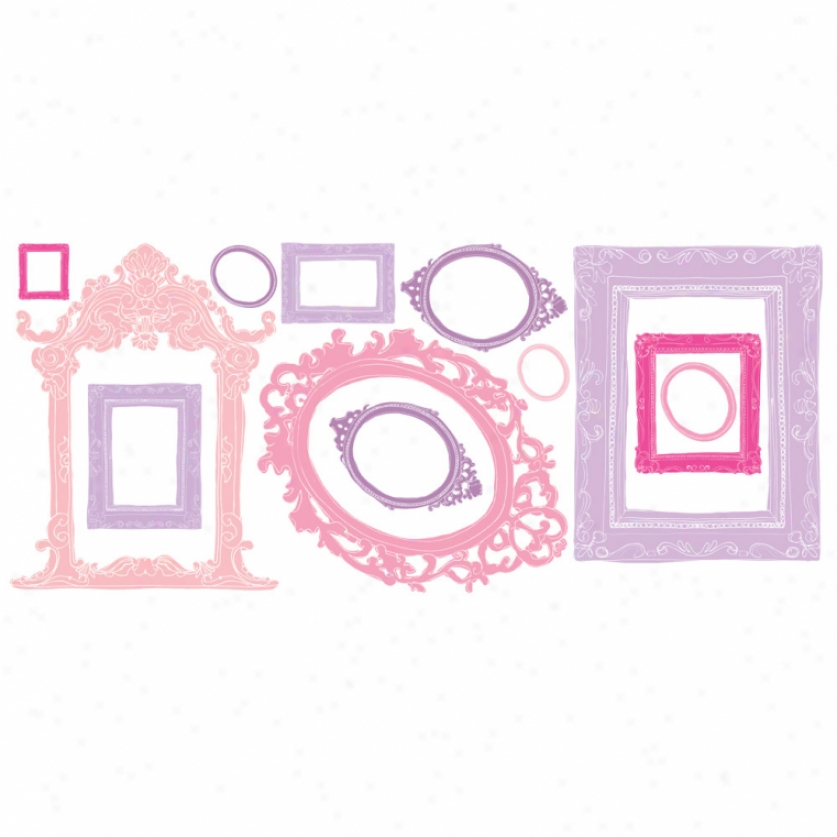 Pink & Purple Frames Wall Decals