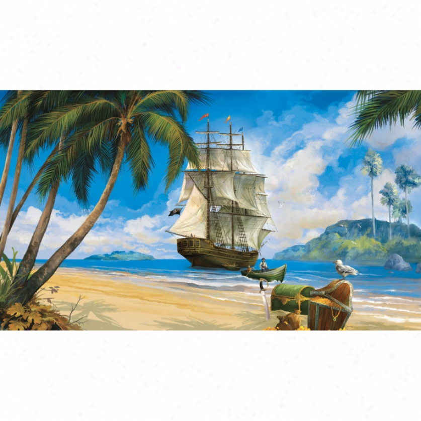 Pirate Ship Xl Wallpaper Mural 10 5 X 6 Wall Decals