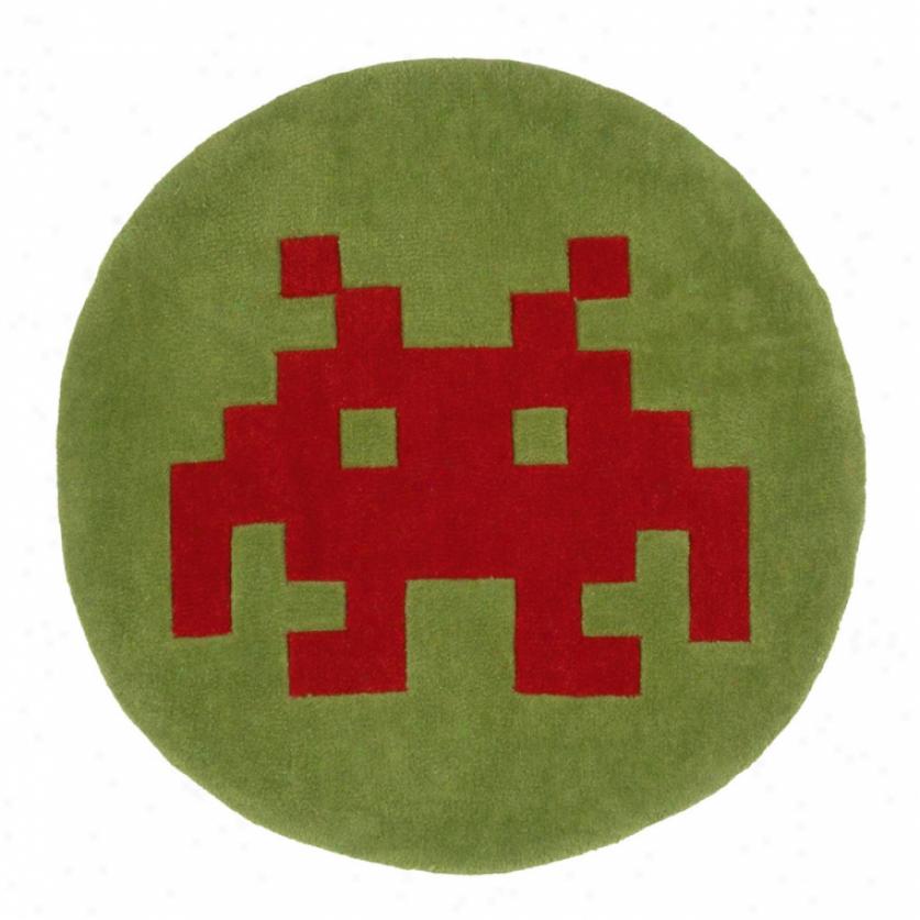 Pixel Alien Rug