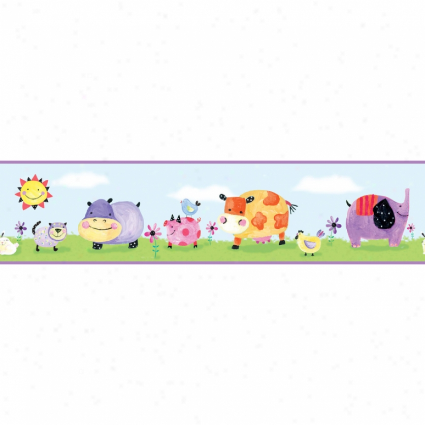 Polka Dot Piggy Peel & Stick Border