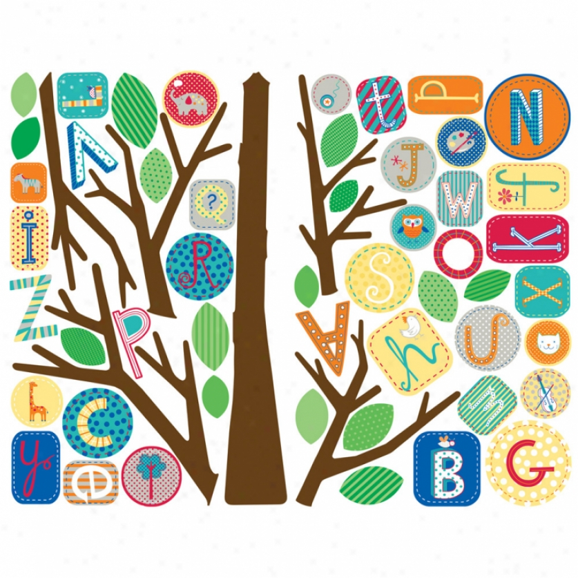 Primary Abc Tree Giant Wall Decals