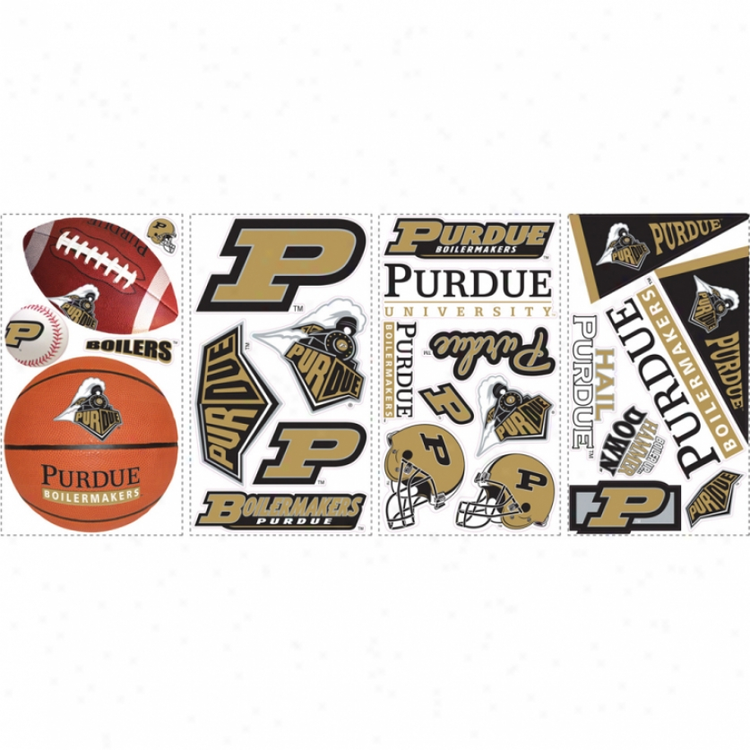 Purdue Seminary of learning Wall Decals