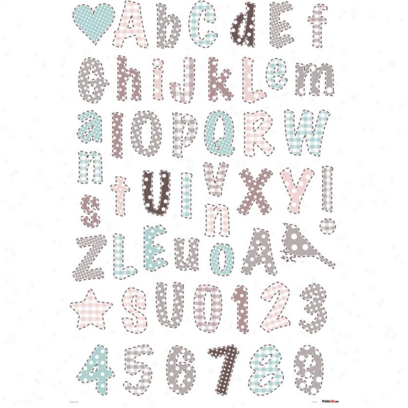 Romantic Alphabet Wall Decals