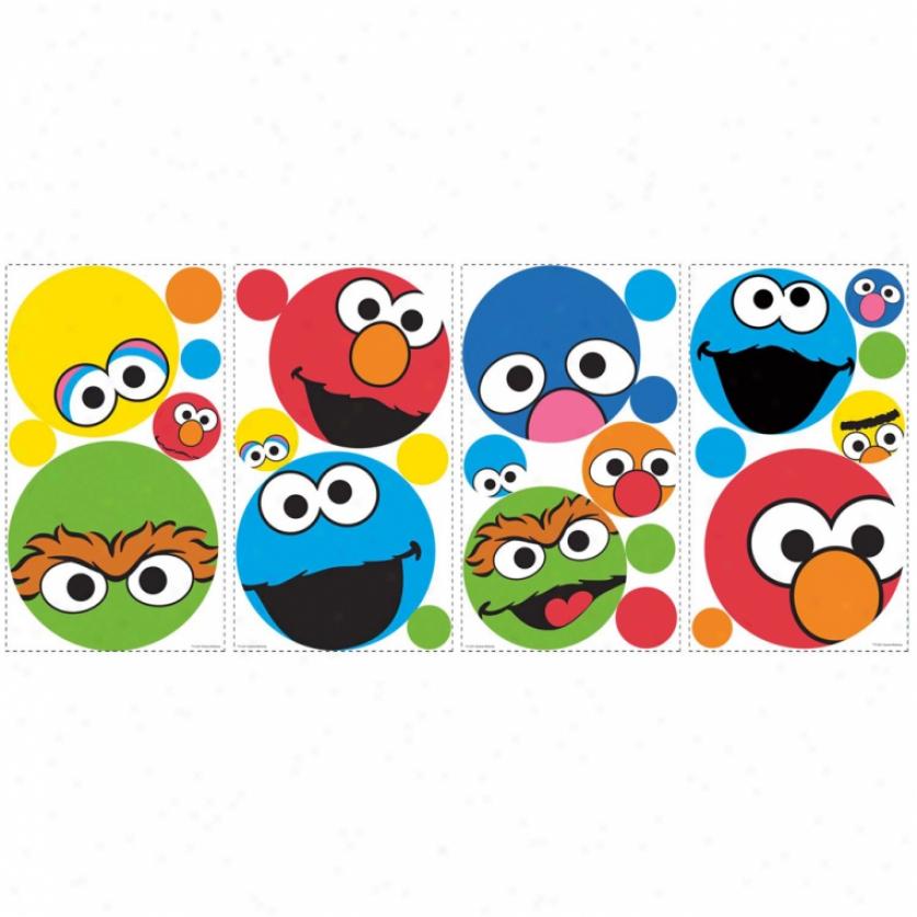 Sesame Street Dots Wall Decals