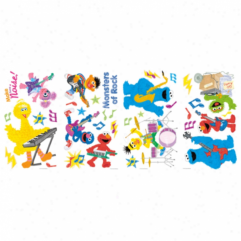 Sesame Street Rock & Roll Wall Decals
