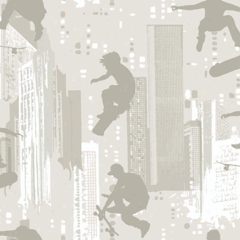 Skater Silhouettes Hoary Wallpaper