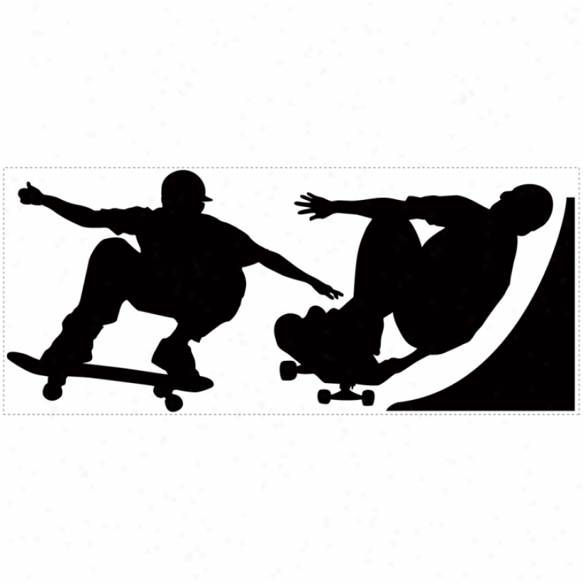 Skaters Chalkboard Wall Decals
