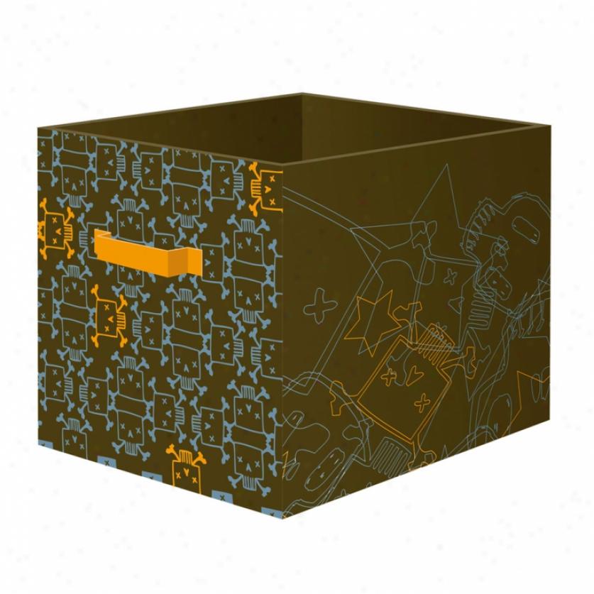 Skull & Crossbones Large Storage Bin