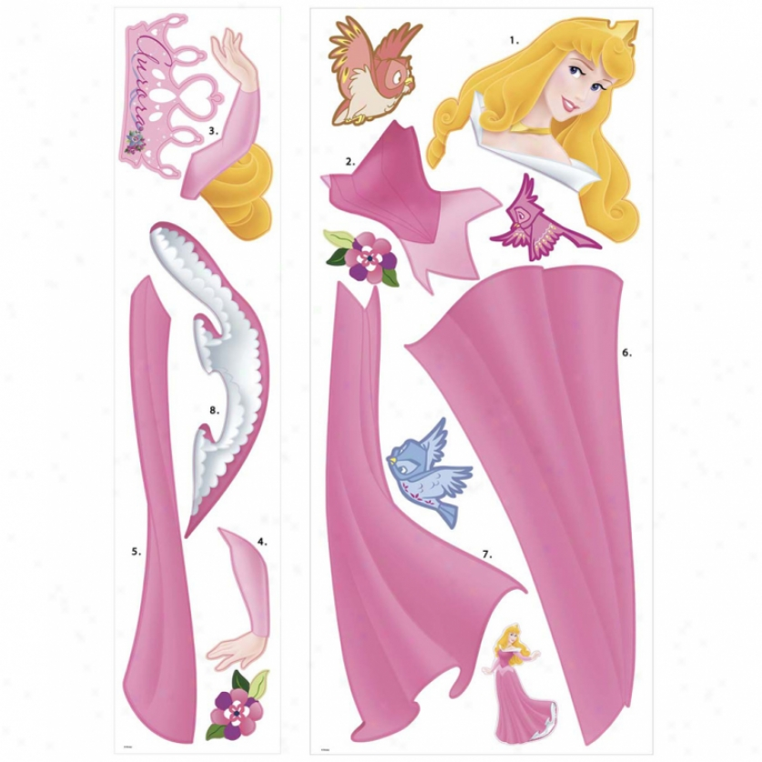 Sleeping Beauty Giant Wall Decal With Gems