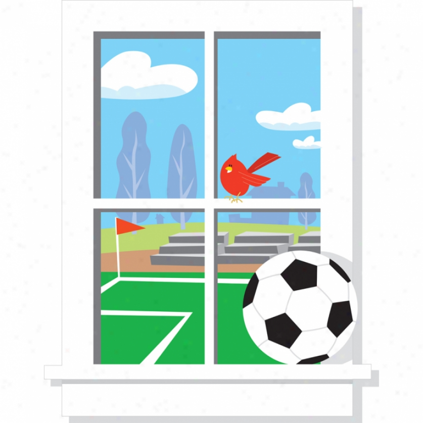 Soccer Use Window Giant Wall Decal