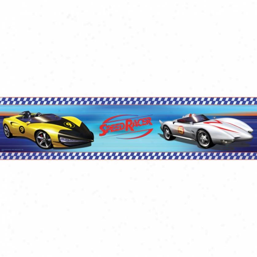 Speed Racer Peel & Stick Border