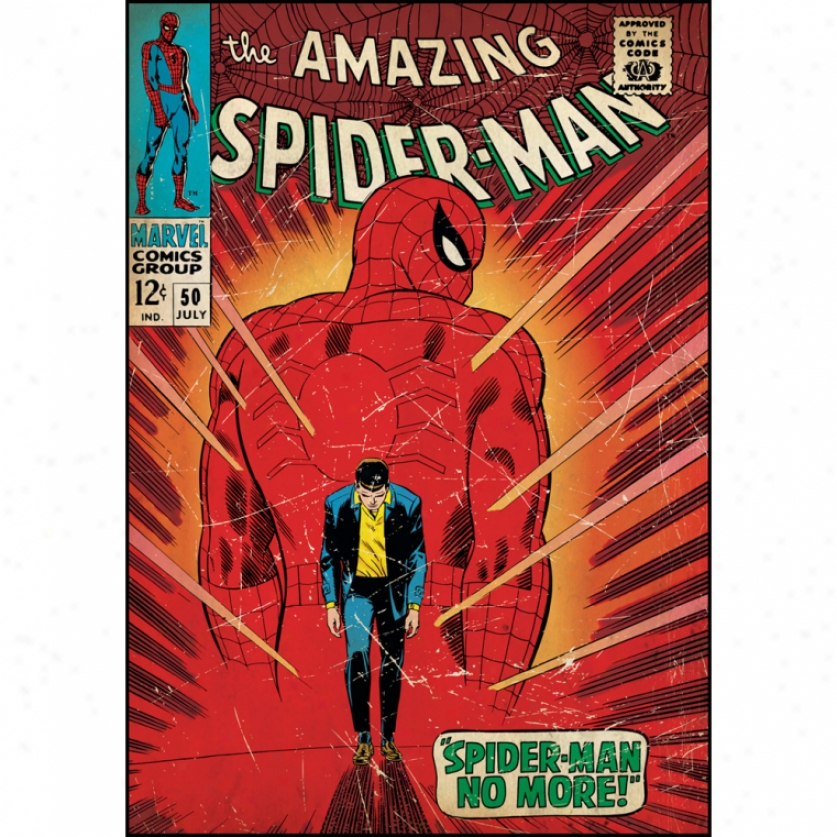 Spidet-man Walking Away Comic Cover Giant Wall Decal