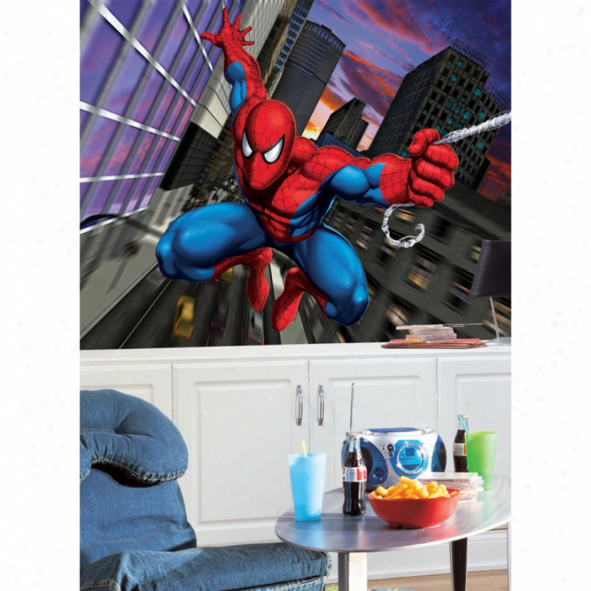 Spider-man Xl Wallpaper Mural 100.5' X 6'