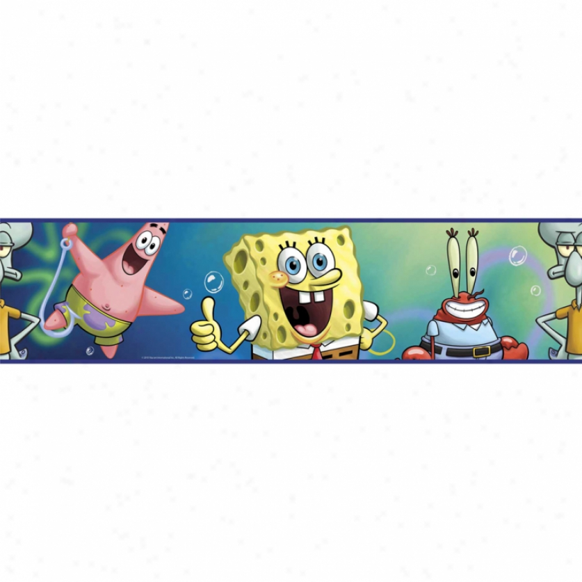 Spongebob Squarepants Peel & Adhere Border
