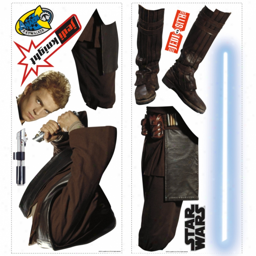 Heavenly body Wars(tm) Anakin Skywalker(tm) Giant Wall Decal