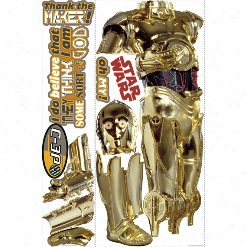 Star Wars(tm) C-3po(tm) Giant Wall Decal