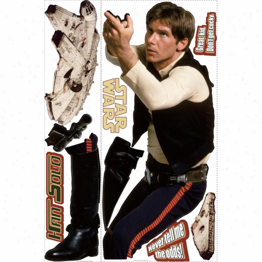 Star Wars(tm) Han Solo(tm) Giant Wall Decal