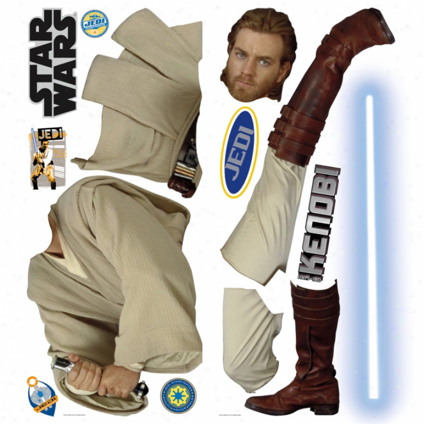 Star Wars(tm) Obi-wan Kenobi(tm) Giant Wall Decal