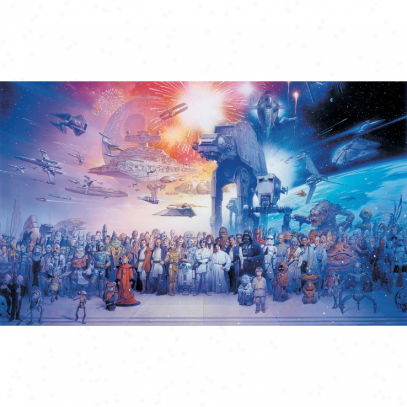 Star Wars(tm) Saga Xl Wallpaper Mural 10.5' X 6'