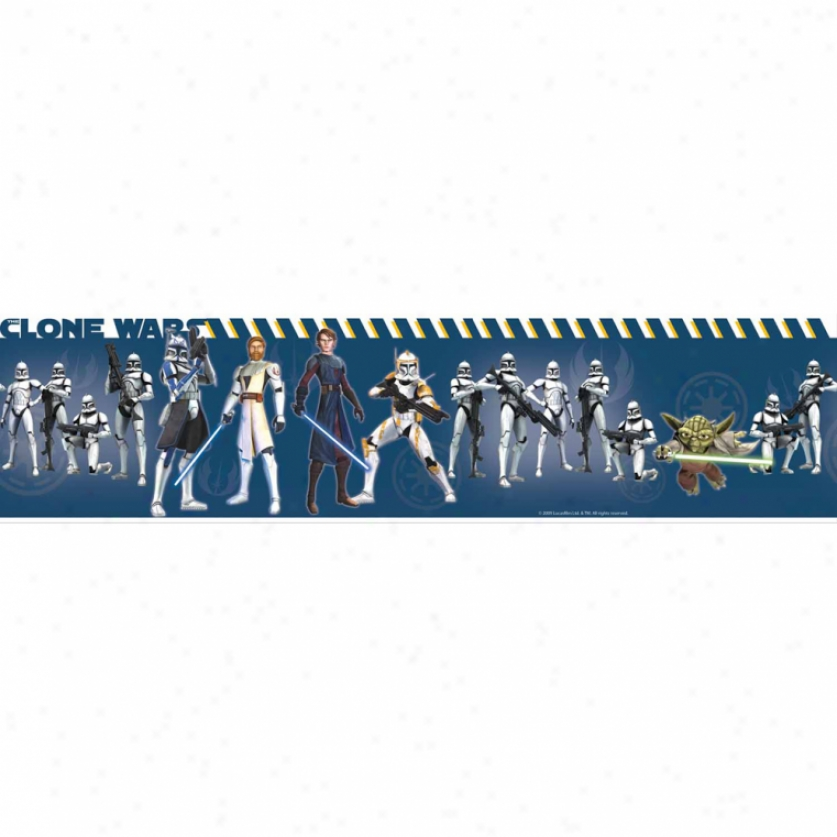 Star Wars(tm): The Clone War Peel & Stick Border