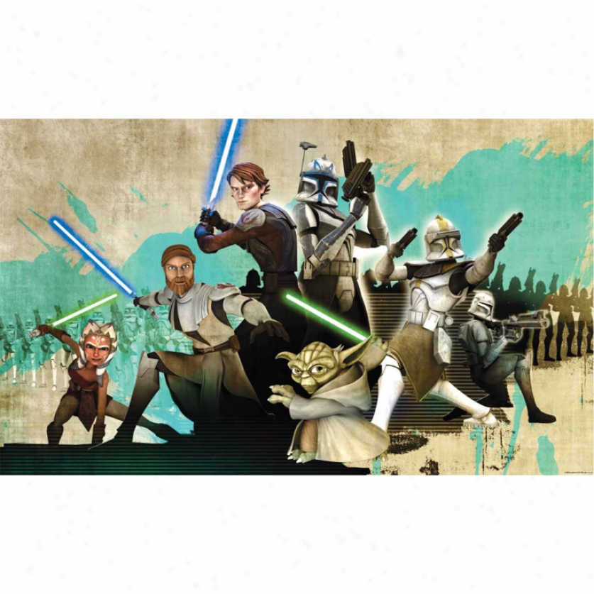 Star Wars(tm): The Clone Wars Xl Wallpaper Mural 10.5' X 6'