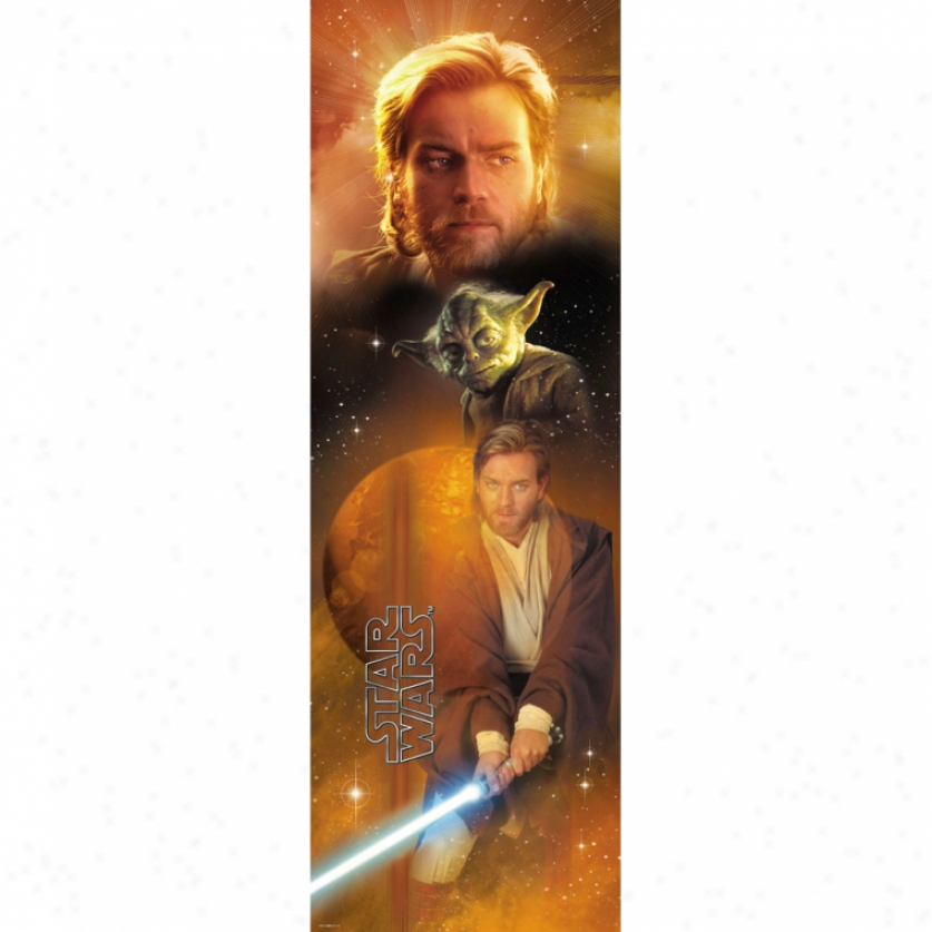 Star Wars(tm) Yoda(tm) & Obi-wan Kenobi(tm) Wall Panel