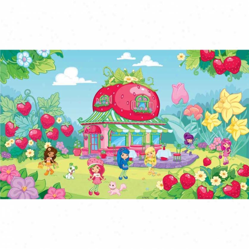 Strawberry Shortcake Xl Wallpaper Mural 10.5' X 6'