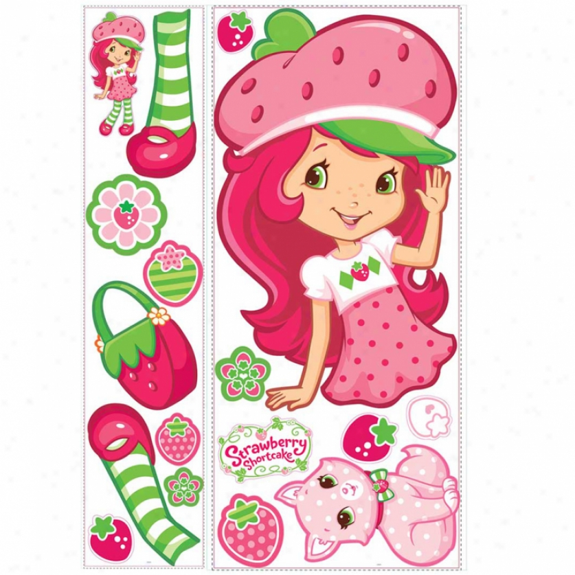 Strawberry Shortcake(tm) Scratch 'n' Sniff Giant Wall Decal