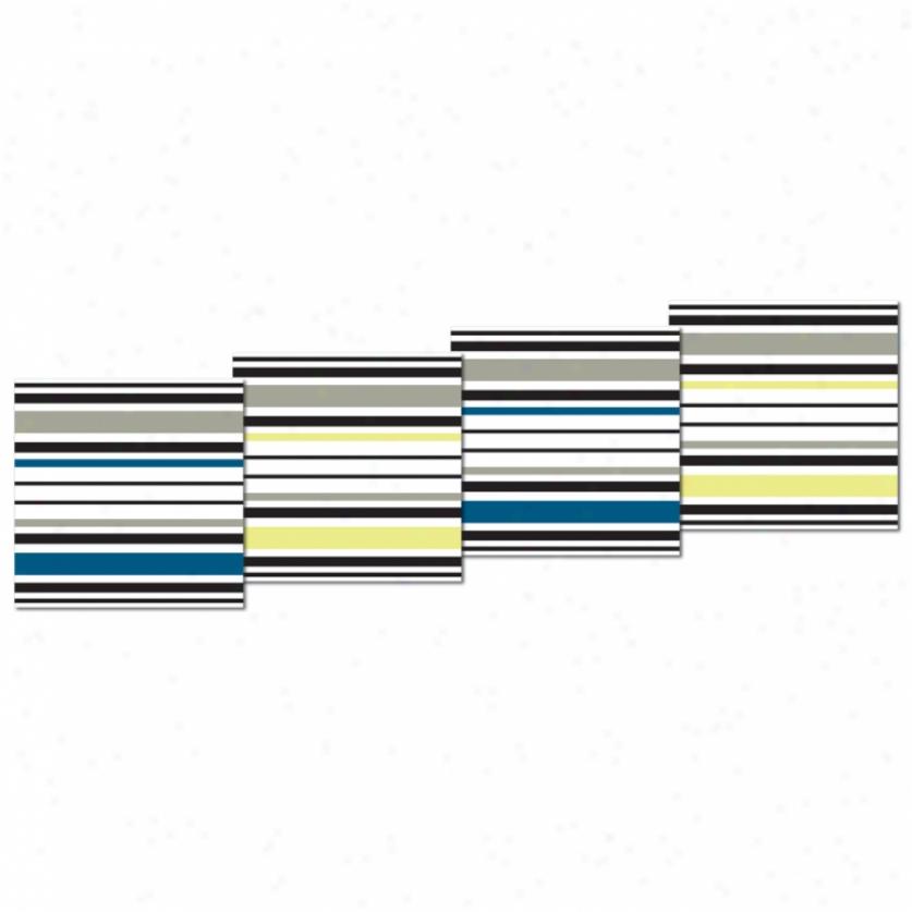 Stripes Peel & Stjck Foam Tiless