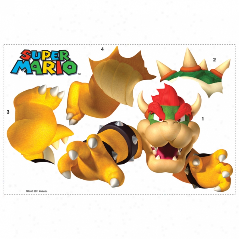 Super Mario: Bowser Giant Wall Decal