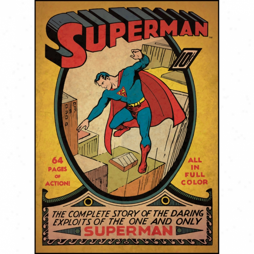 Superman(tm) Issie #1 Comic Cover Giant Wall Decal