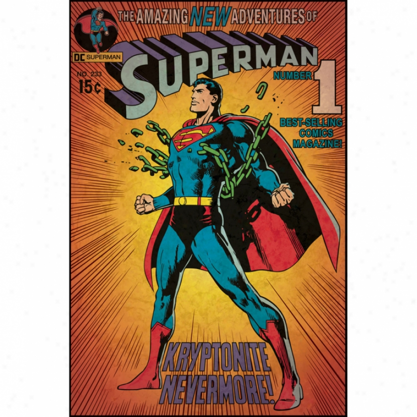 Superman(tm) Kryptonite Comic Cover Monster Wall Decal