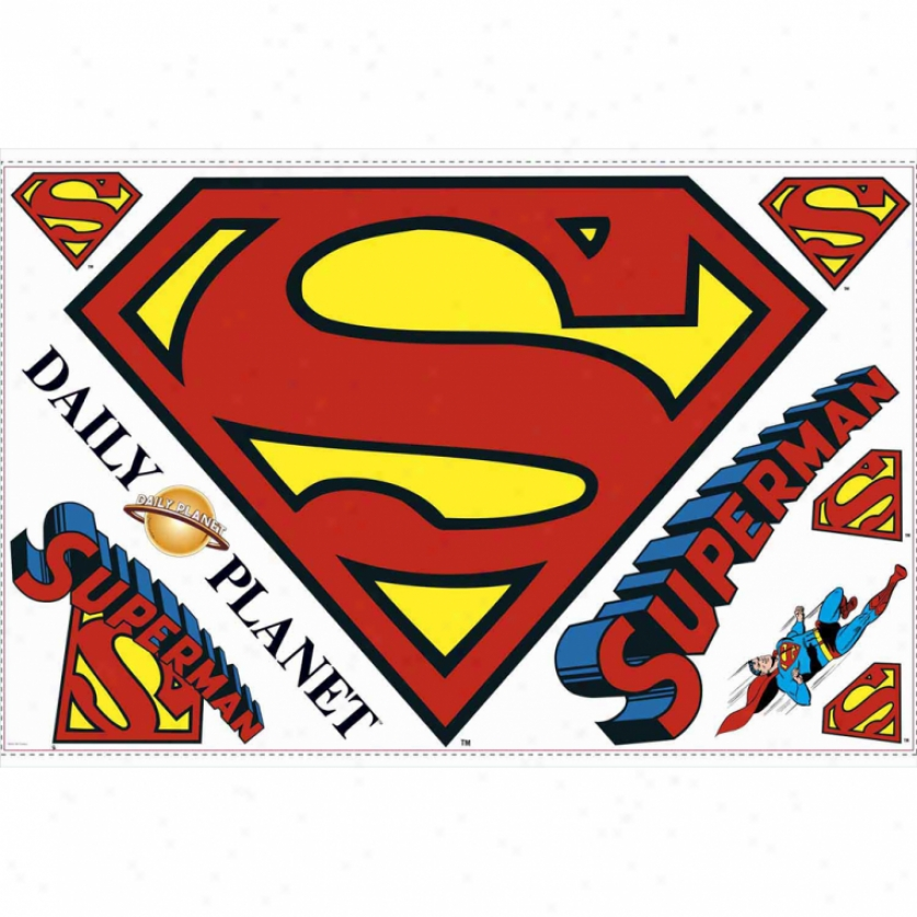 Superman(tm) Logo Giant Wall Decal