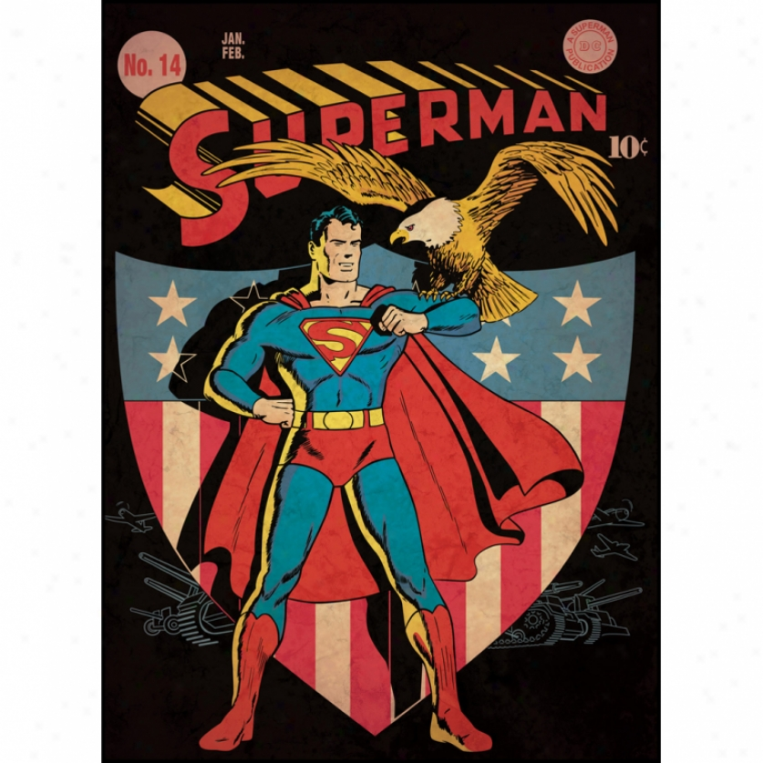 Superman(tm) Patriotic Comic Cover Giant Wal Decal