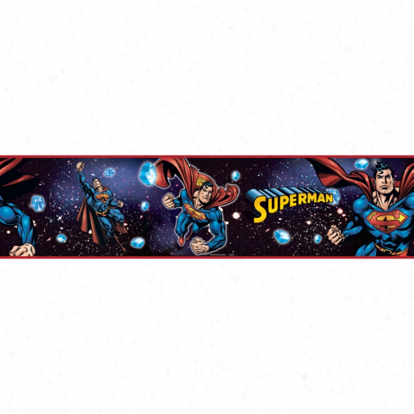Superman(tm) Peel & Stick Border