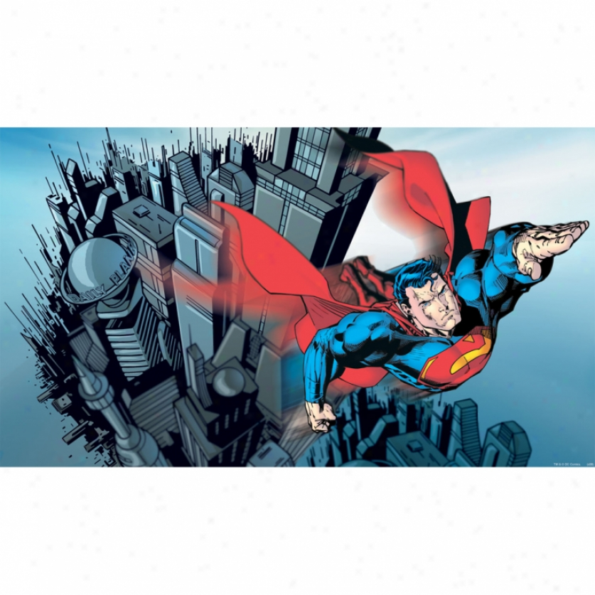 Superman(tm) Xl Wallpaper Mural 10.5' X 6'