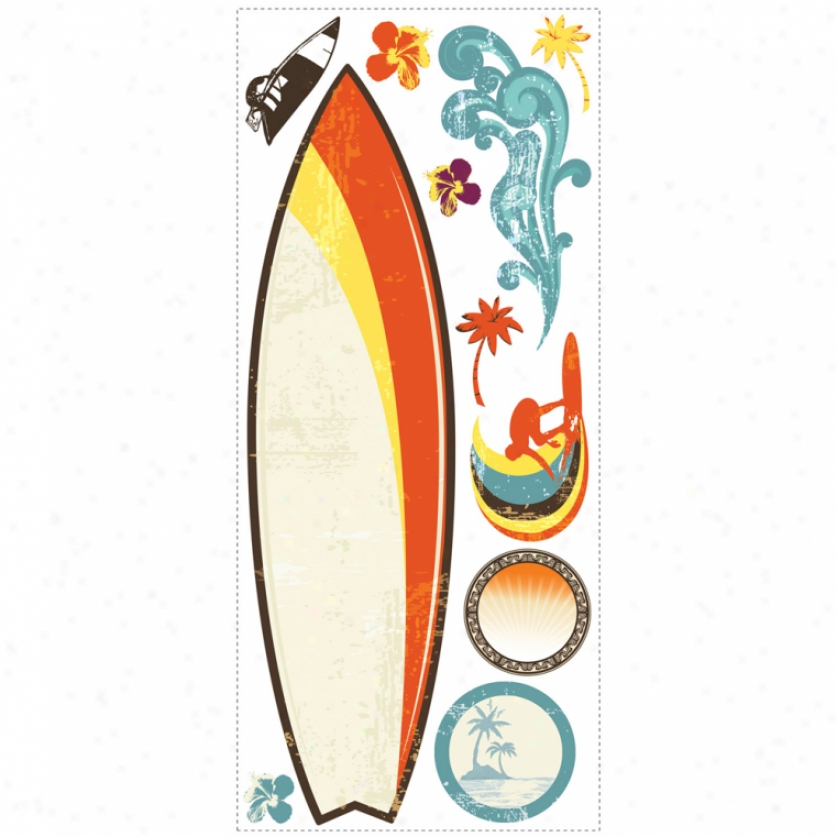 Surf's Up Dry Erase Giant Wall Decals