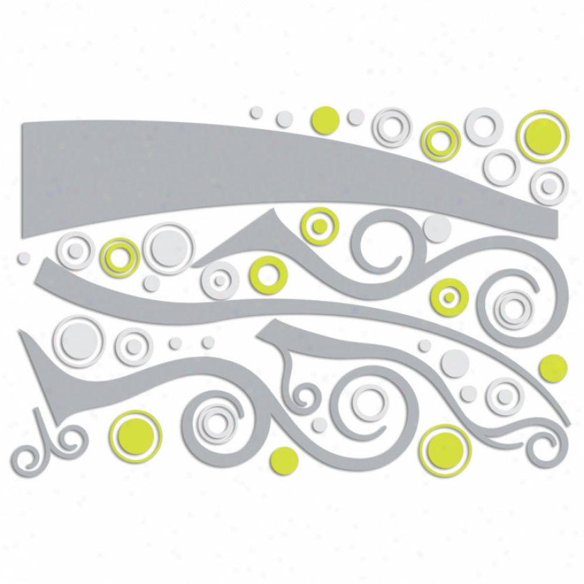 Swirly Trr Foam Wall Decals